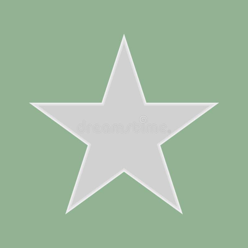 Vecteur gris eps10 d'étoile étoile de évaluation sur le fond vert illustration stock