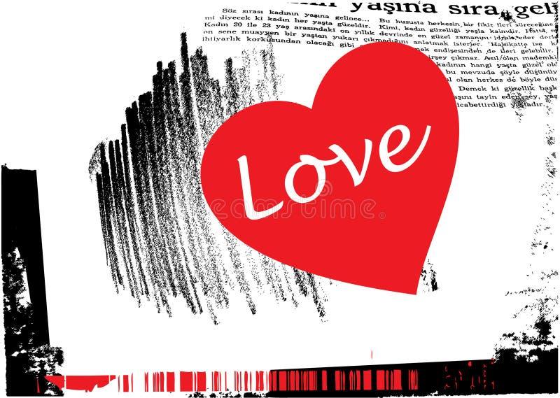 Vecteur grunge de fond d'amour illustration libre de droits