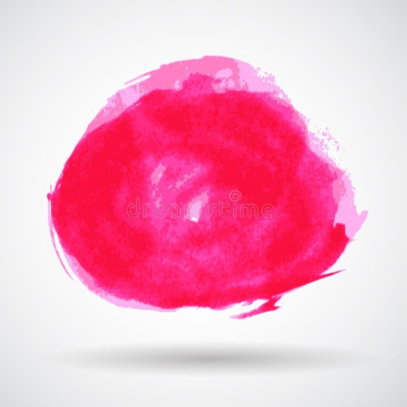 Vecteur grunge rose abstrait de bannière d'éclaboussure illustration libre de droits