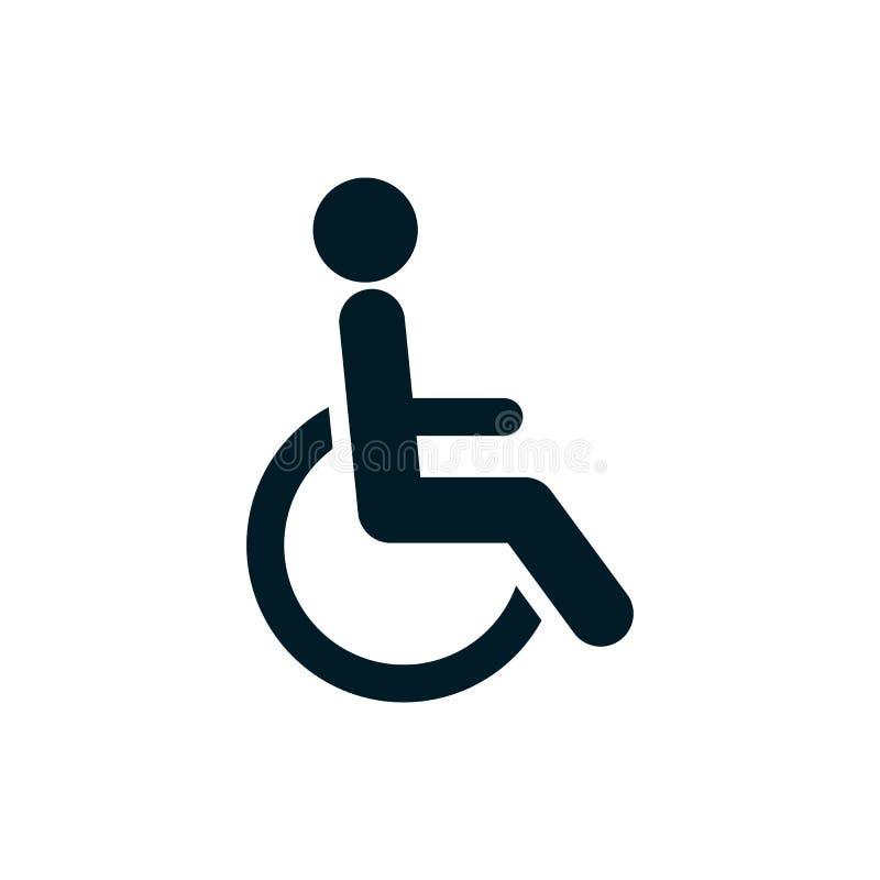 Vecteur handicapé de signe d'handicap d'icône de logo illustration stock