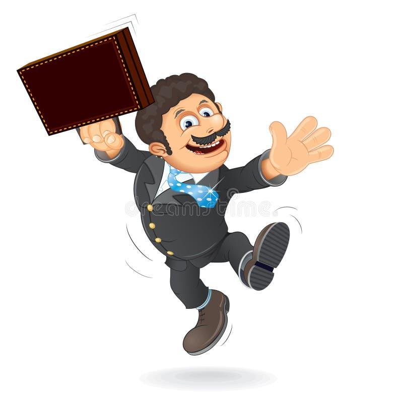 Vecteur heureux d'homme d'affaires illustration de vecteur