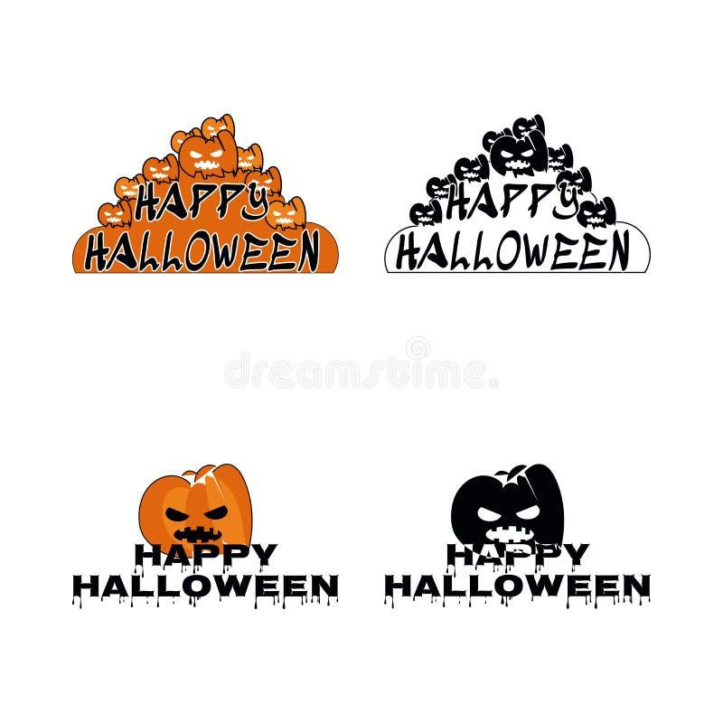 Vecteur heureux d'illustration de bande dessinée de symbole de Halloween photo stock