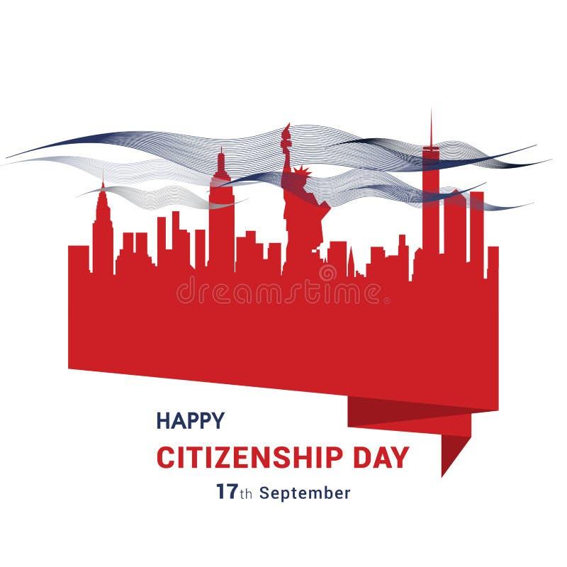 Vecteur heureux de conception de citoyenneté illustration libre de droits