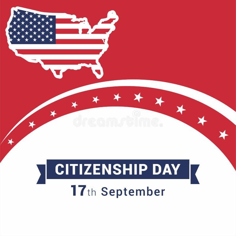 Vecteur heureux de conception de citoyenneté illustration de vecteur