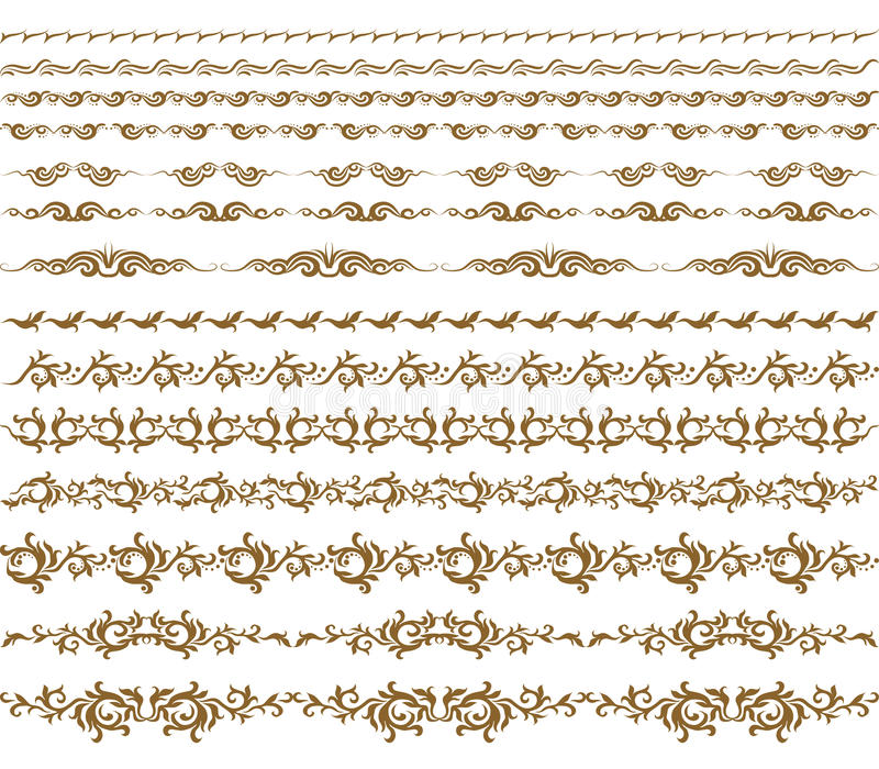 Vecteur horizontal de décoration d'éléments illustration stock