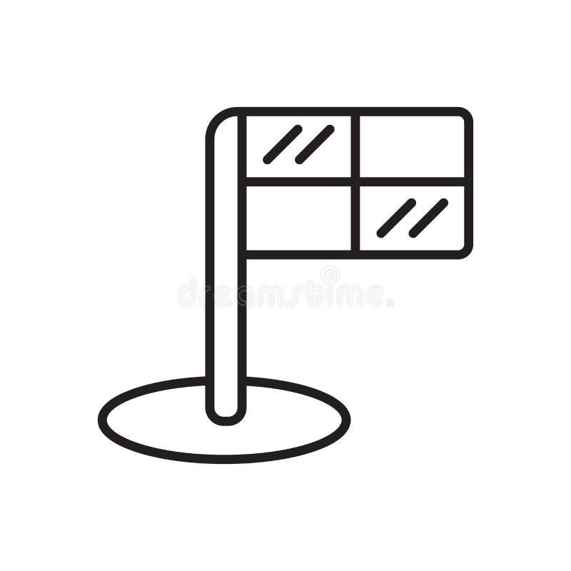 Vecteur hors jeu d'icône d'isolement sur le fond blanc, le signe hors jeu, le signe et les symboles dans le style linéaire mince  illustration libre de droits