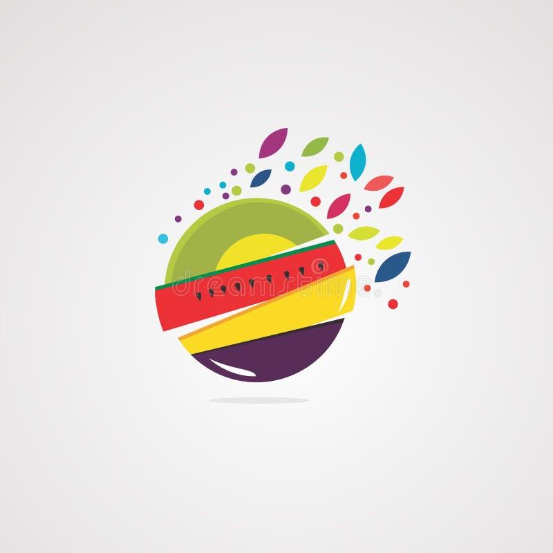Vecteur, icône, élément, et calibre frais de logo de presse-fruits illustration stock