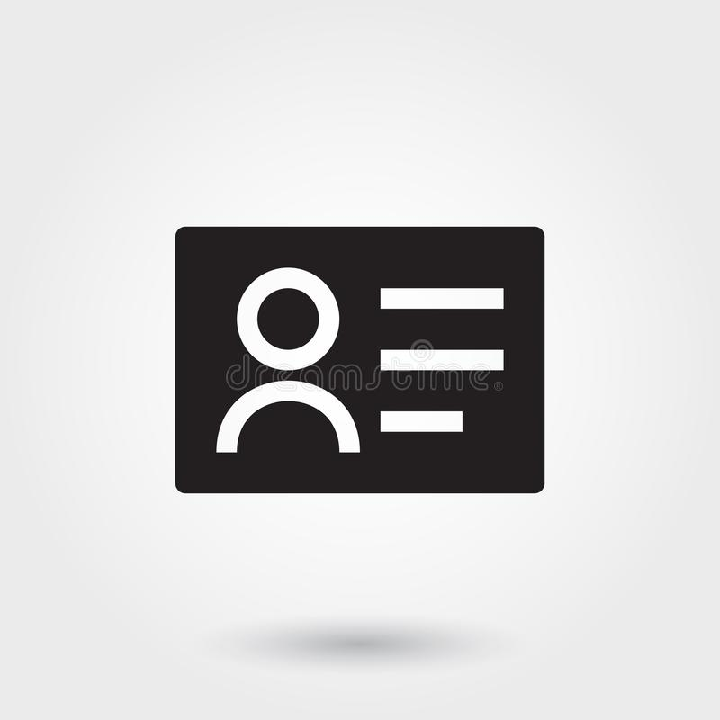 Vecteur, icônes de carte de visite professionnelle de visite, icône de Glyph pour tous buts illustration libre de droits