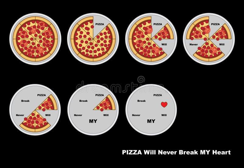 vecteur inclus de pizza de fichier d'ENV illustration stock