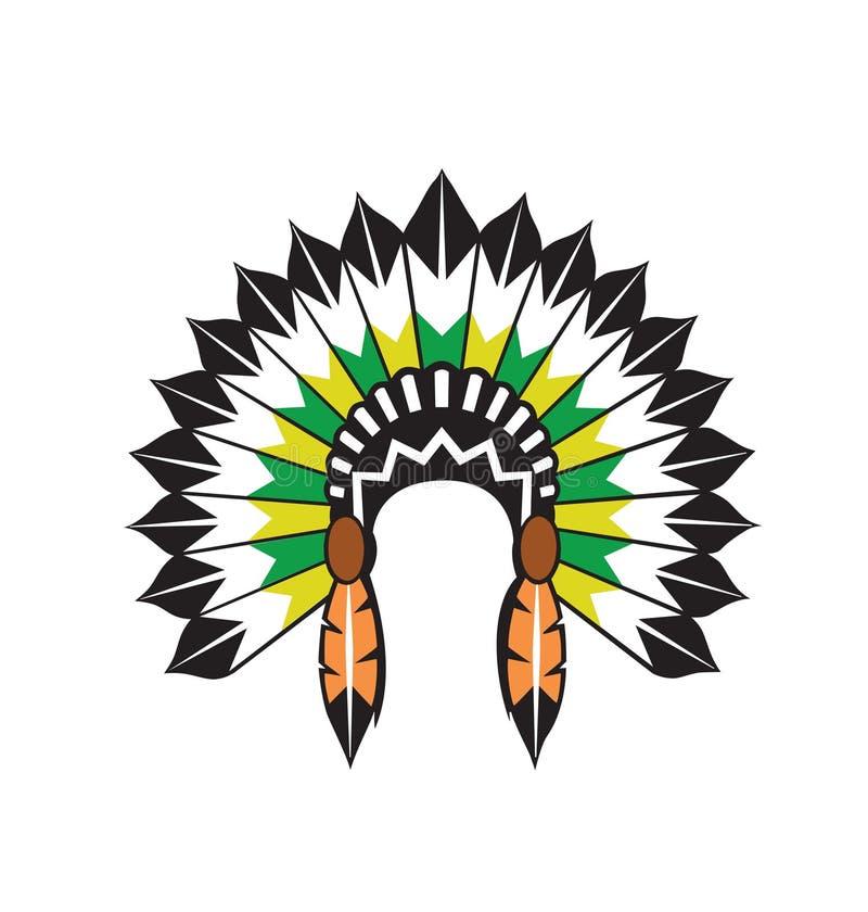 vecteur indigène indien de coiffe illustration libre de droits