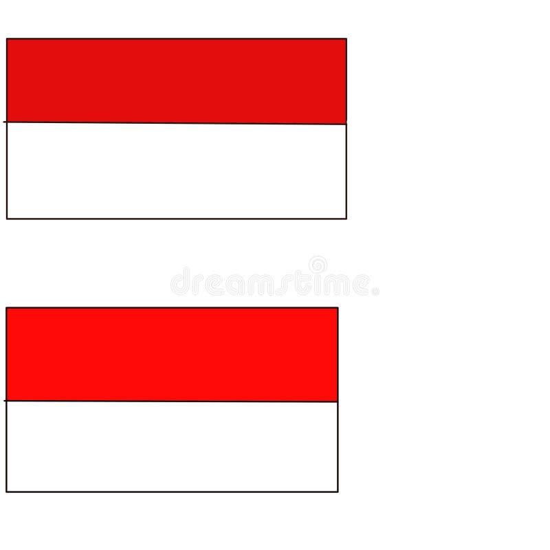 Vecteur indonésien de drapeau photographie stock