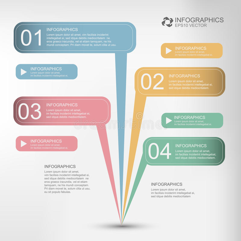Vecteur infographic illustration libre de droits