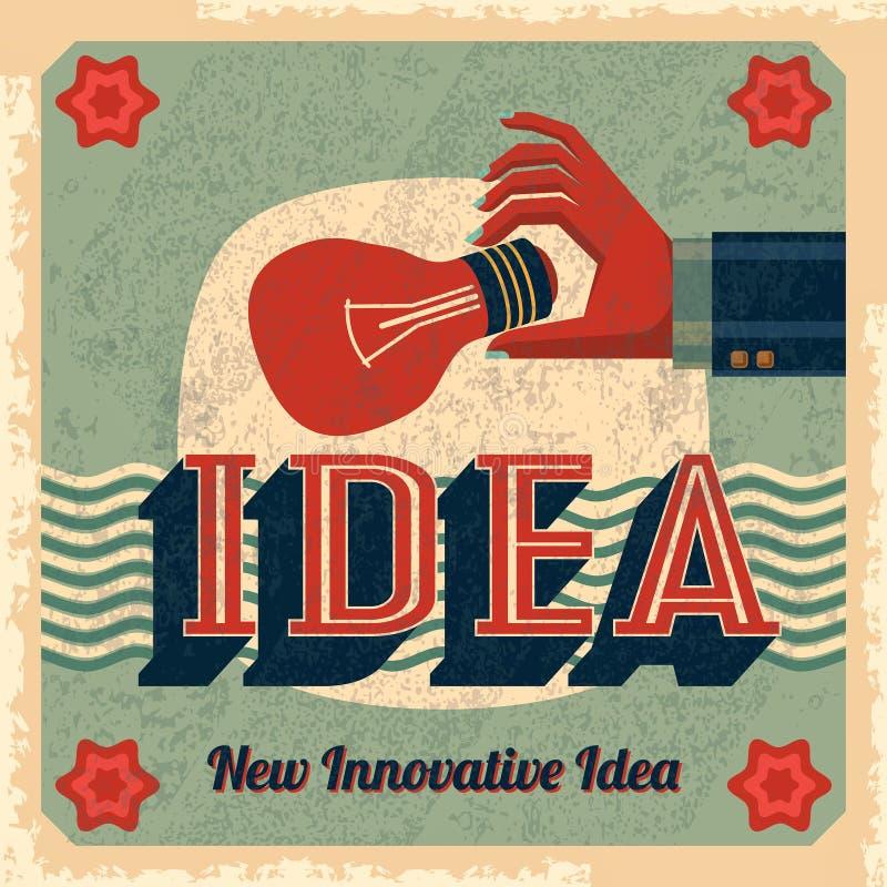 Vecteur innovateur d'idée avec l'ampoule illustration libre de droits