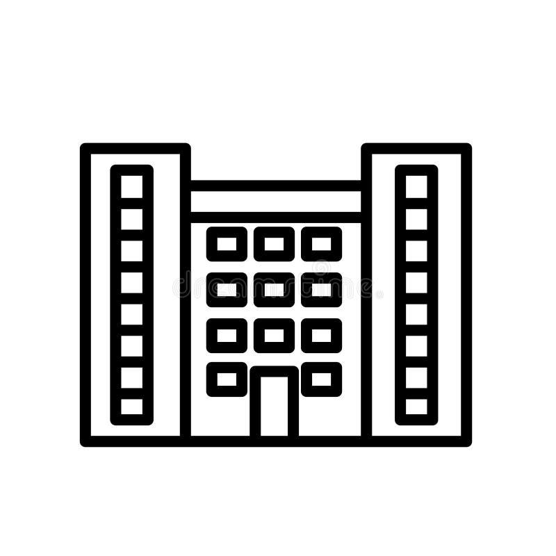 Vecteur instantané d'icône d'appartement d'isolement sur le fond blanc, le signe instantané d'appartement, la ligne ou le signe l illustration de vecteur