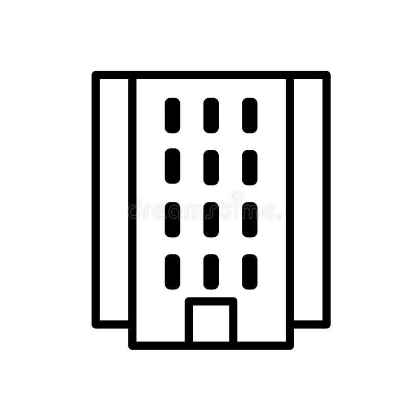 Vecteur instantané d'icône d'appartement d'isolement sur le fond blanc, le signe instantané d'appartement, la ligne ou le signe l illustration libre de droits