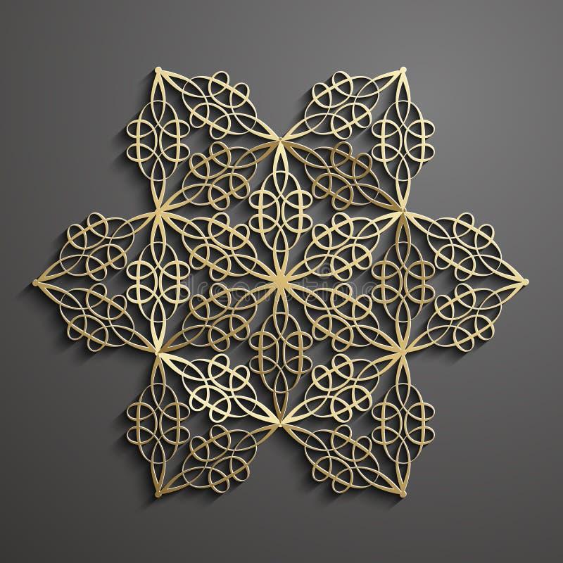 Vecteur islamique d'ornement, motiff persan illustration libre de droits