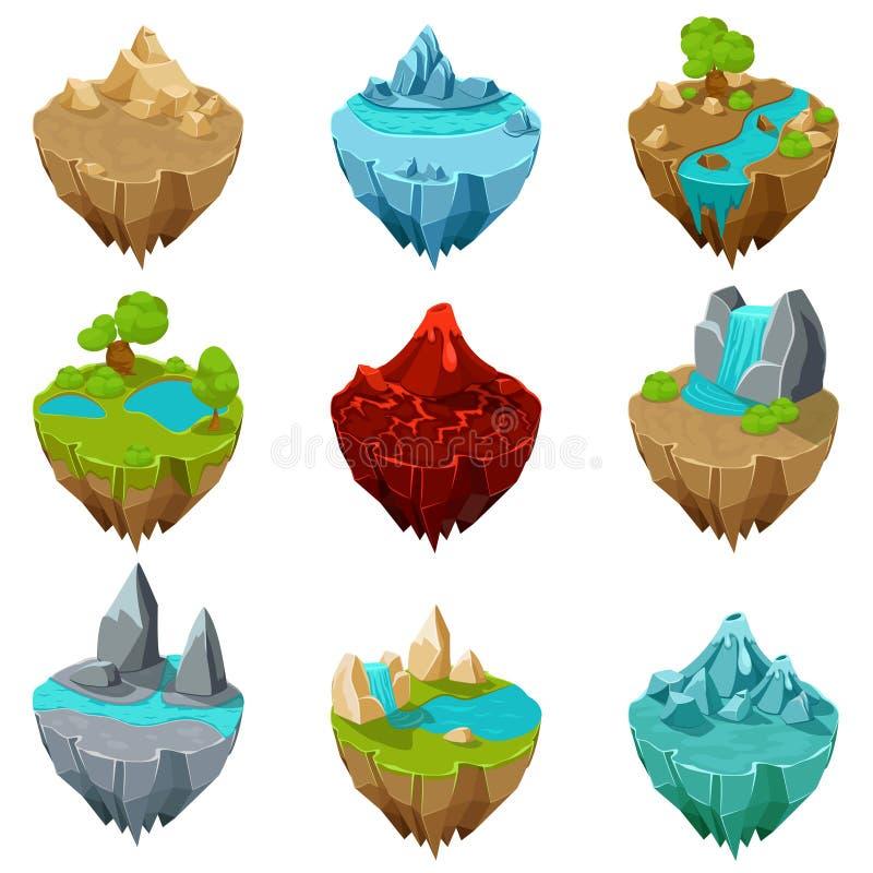 Vecteur isométrique d'îles de jeu illustration de vecteur