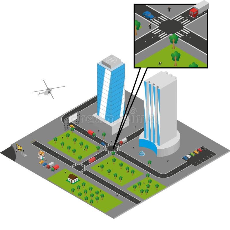 Vecteur isométrique de ville illustration de vecteur