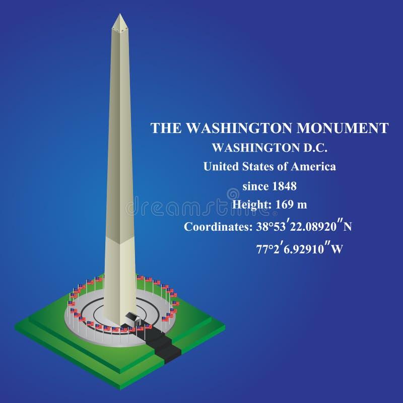 Vecteur isométrique de Washington Monument Illustration de vecteur illustration stock