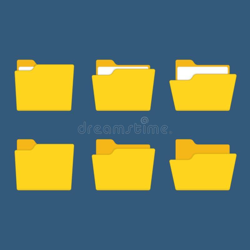 Vecteur jaune de dossier illustration stock