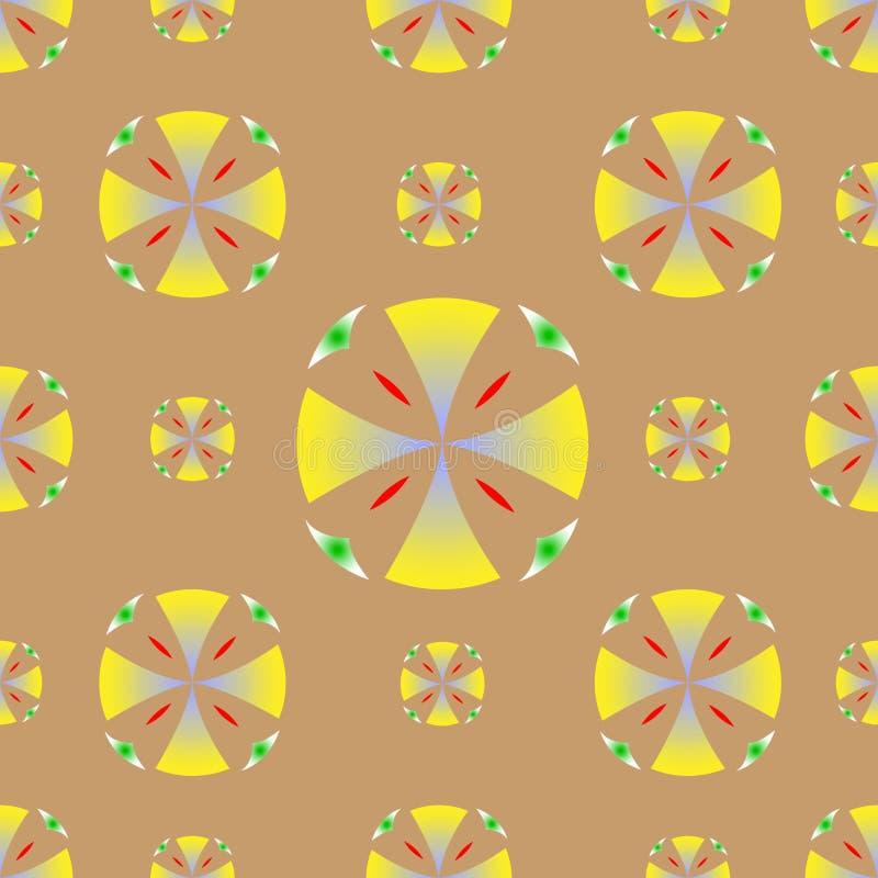 Vecteur jaune de fond de cercles de texture sans couture illustration de vecteur