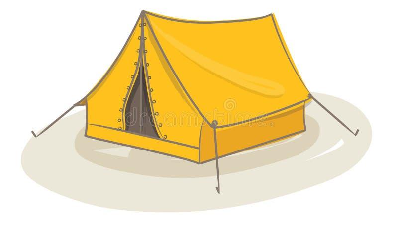 Vecteur jaune de tente illustration stock