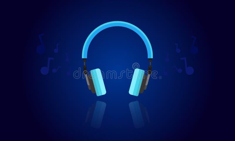 Vecteur léger bleu d'écouteur photo libre de droits