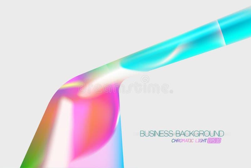 Vecteur léger chromatique de scène de forme illustration libre de droits