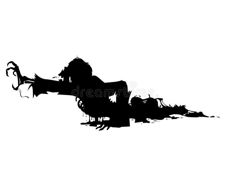 Vecteur laid de zombi illustration stock