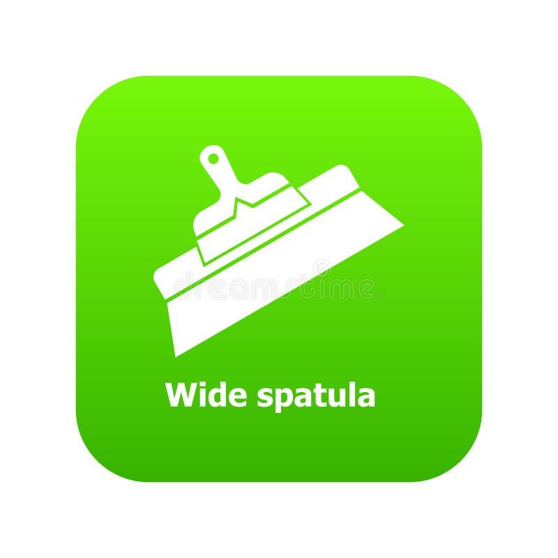 Vecteur large de vert d'icône de spatule illustration de vecteur