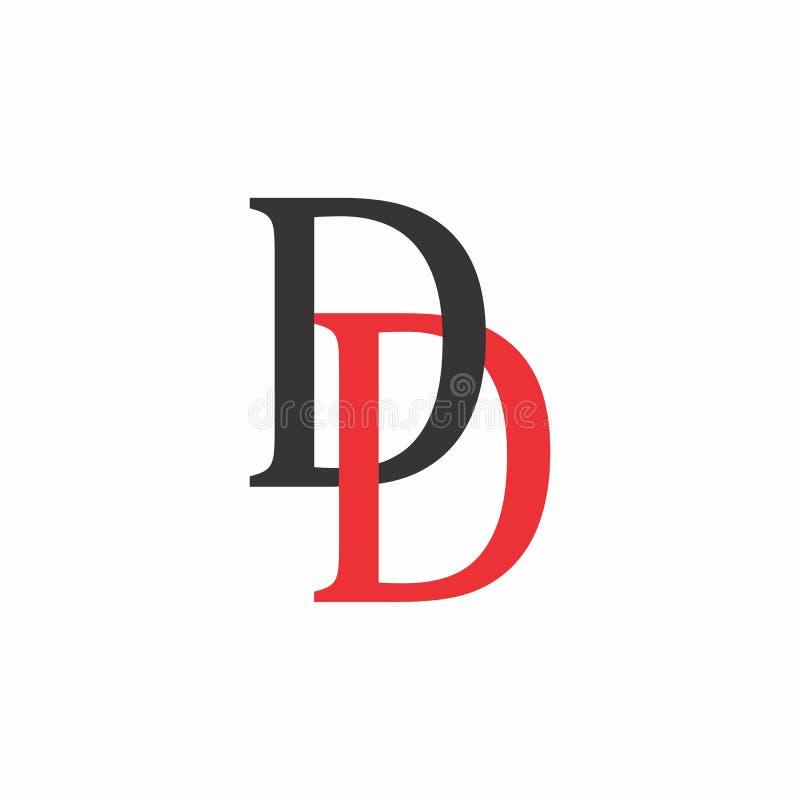 Vecteur lié simple de logo de densité double de lettre illustration libre de droits