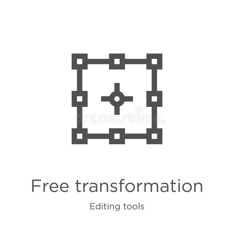 vecteur libre d'icône de transformation d'éditer la collection d'outils Ligne mince illustration libre de vecteur d'icône d'ensem illustration stock