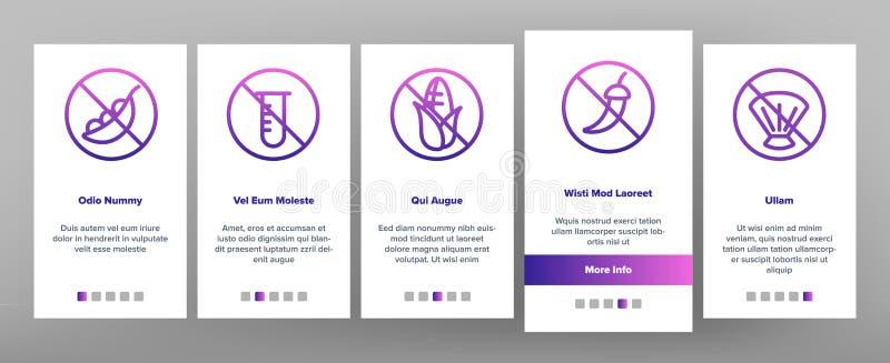 Vecteur libre Onboarding de nourriture d'allergène illustration libre de droits