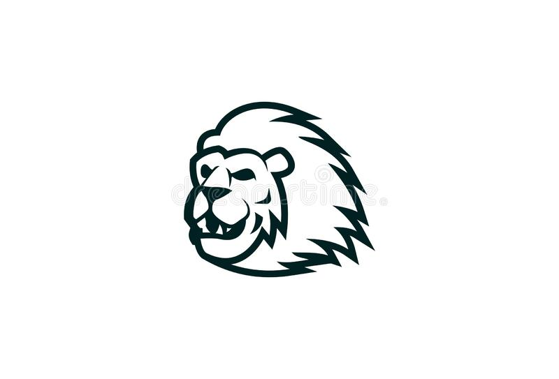 Vecteur Lion Logo Design illustration libre de droits