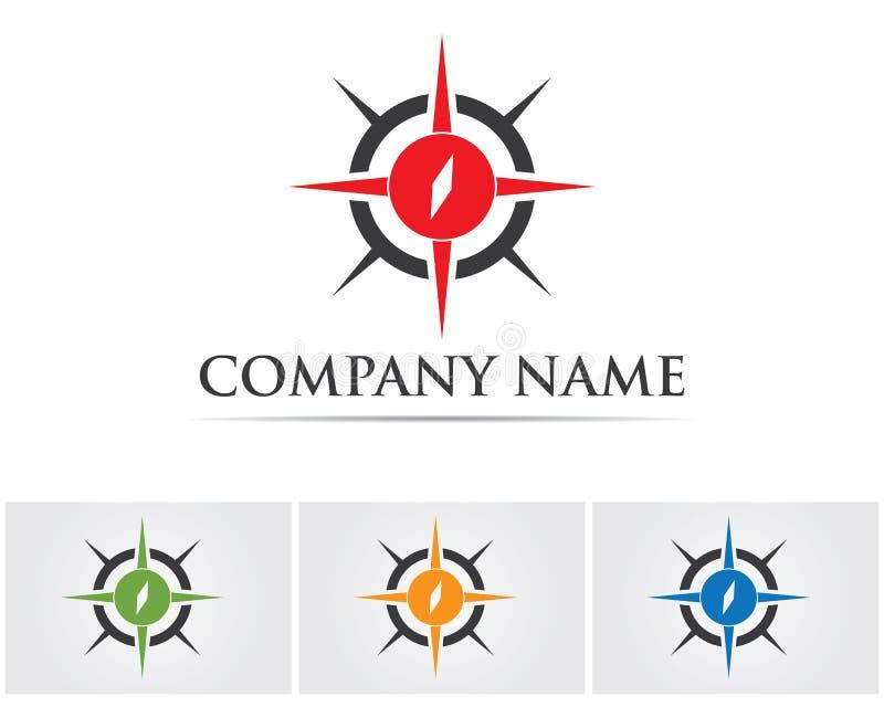 Vecteur - logo de signes et de symboles de boussole illustration stock