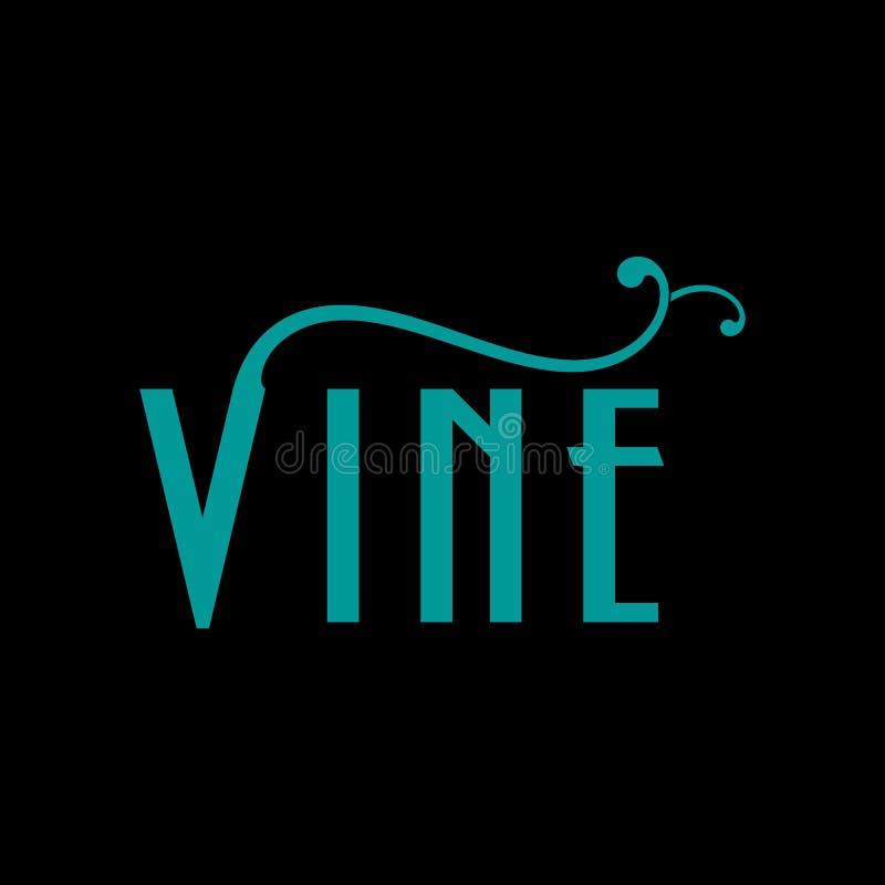 Vecteur Logo Design de vigne illustration de vecteur