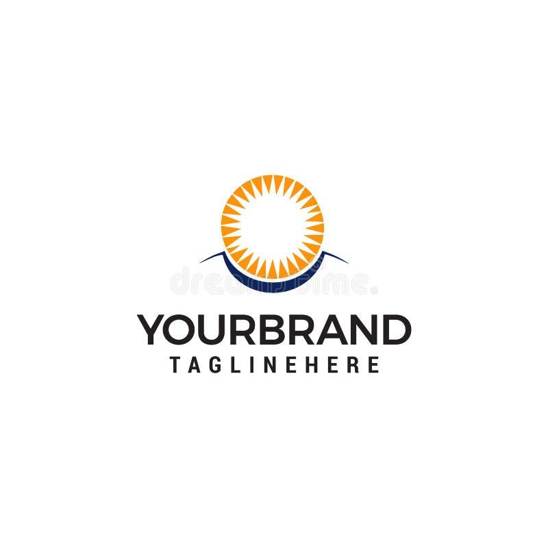 Vecteur Logo Template d'oeil de Sun illustration libre de droits