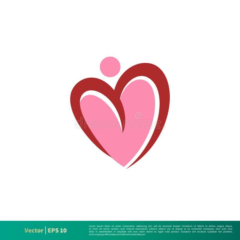 Vecteur Logo Template Illustration Design d'icône d'amour de forme de coeur Vecteur ENV 10 illustration stock
