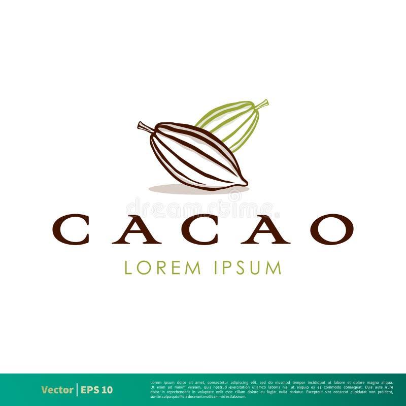 Vecteur Logo Template Illustration Design d'icône de fruit de cacao Vecteur ENV 10 illustration de vecteur