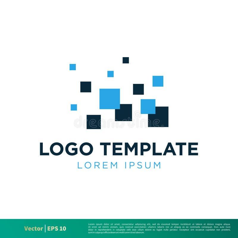 Vecteur Logo Template Illustration Design d'icône de pixels Vecteur ENV 10 illustration stock