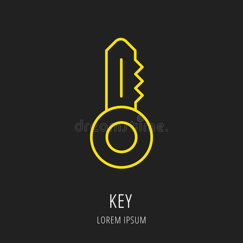 Vecteur Logo Template Key simple illustration de vecteur
