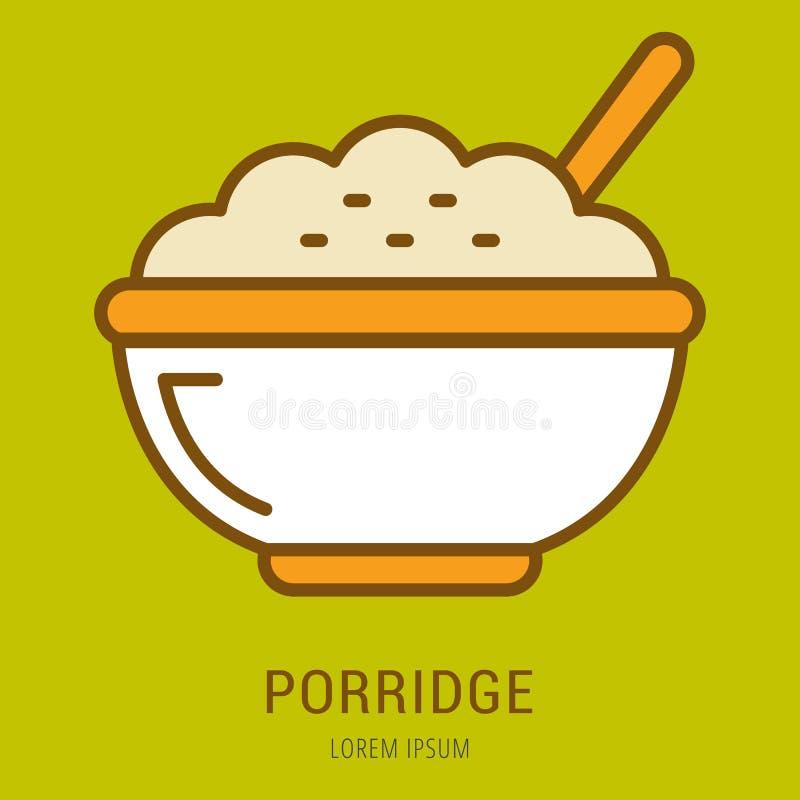 Vecteur Logo Template Porridge simple illustration libre de droits