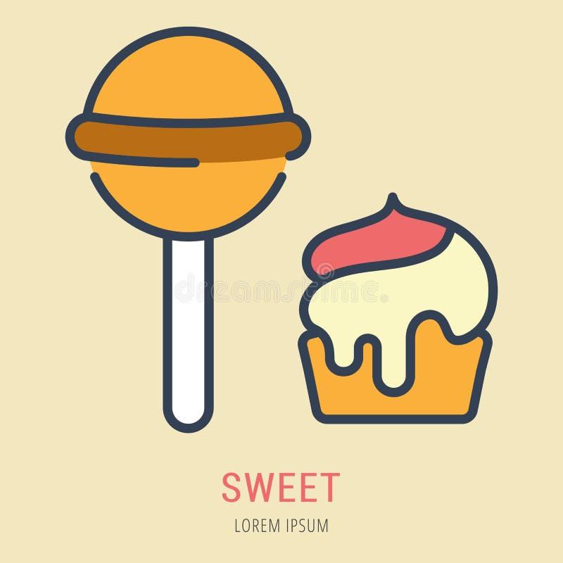 Vecteur Logo Template Sweet simple illustration de vecteur
