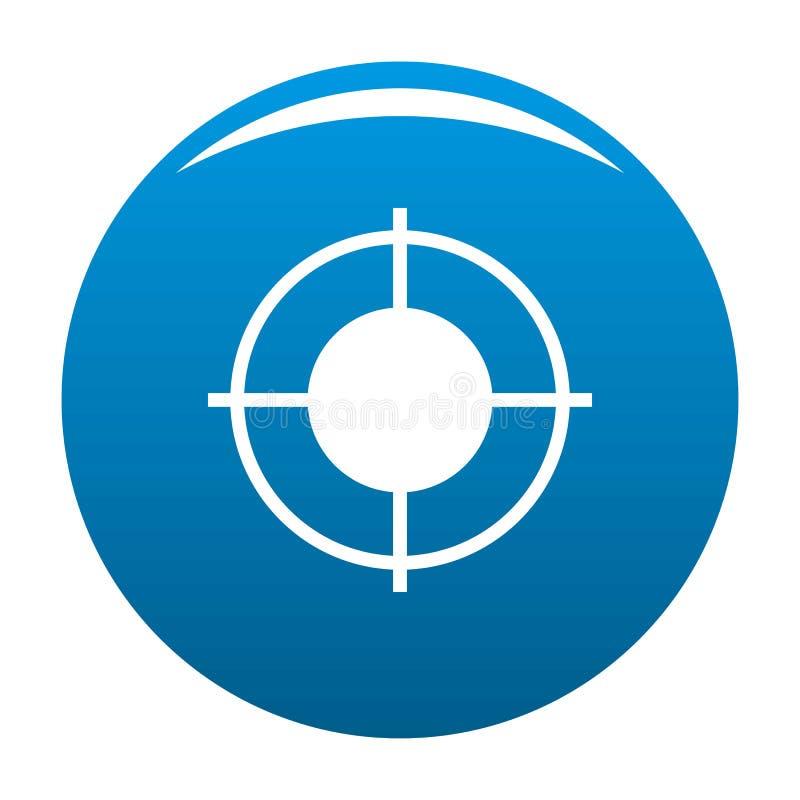 Vecteur lointain de bleu d'icône de cible illustration de vecteur
