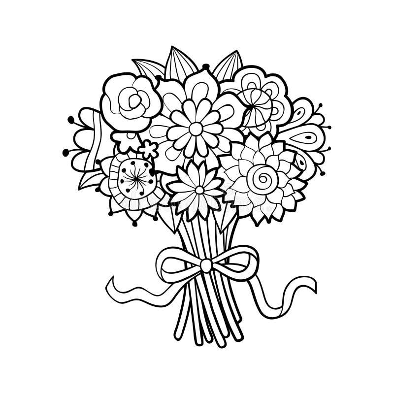 vecteur lumineux d'illustration de fleur de bouquet illustration libre de droits