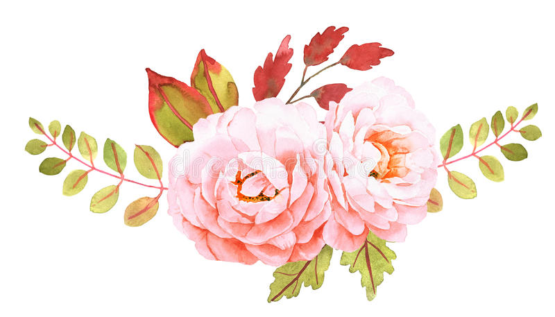 vecteur lumineux d'illustration de fleur de bouquet Composition décorative pour épouser l'invitation illustration de vecteur