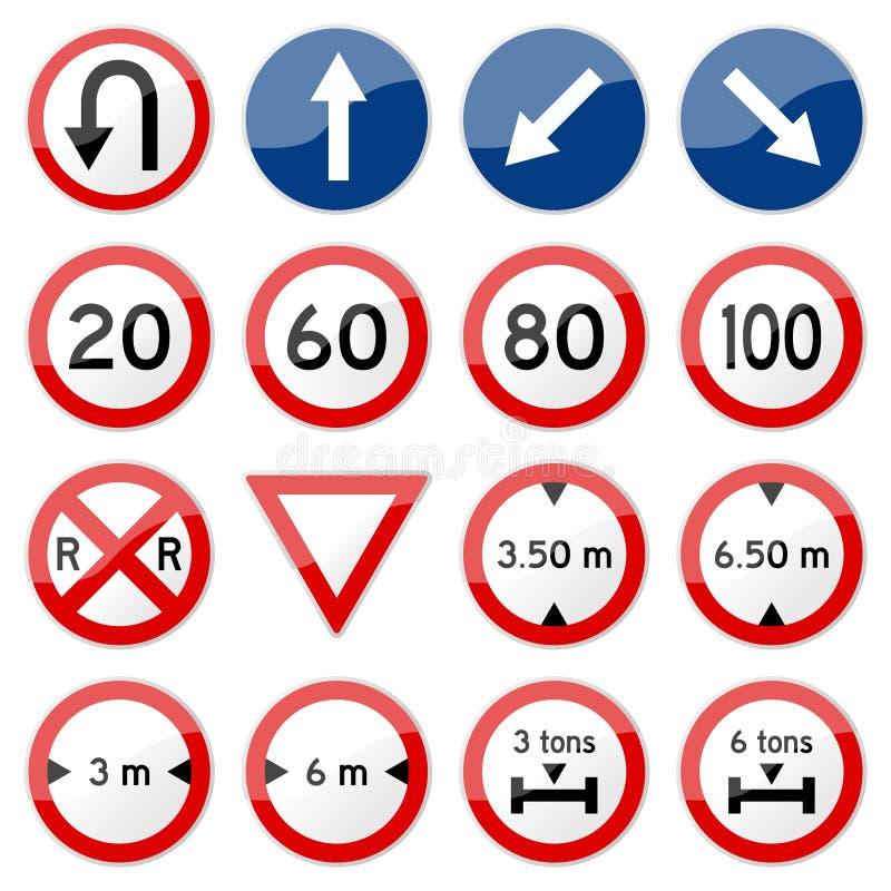 Vecteur lustré de signe de route (placez 7 de 8) illustration de vecteur