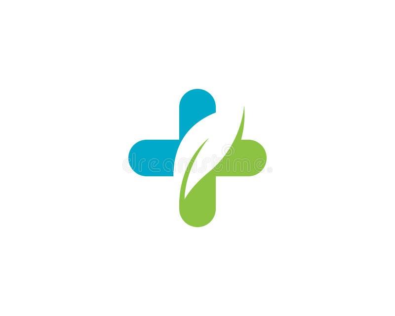 Vecteur médical de calibre de logo de santé illustration libre de droits