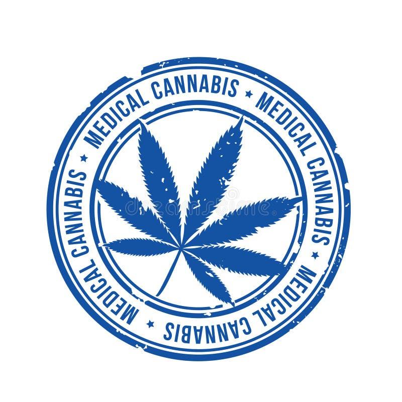 Vecteur médical de timbre de cannabis illustration stock