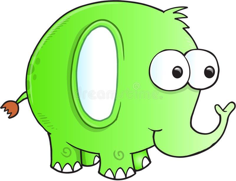 Vecteur maladroit idiot d'éléphant illustration stock